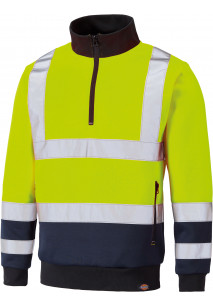 HI-VIS sweatshirt with trucker neck