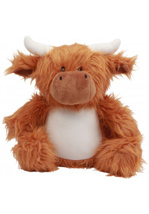 Zipped cow cuddly toy