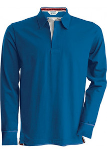 Men's Long Sleeve Rugby Polo Shirt
