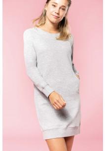 Organic fleece lounge dress