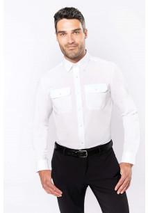 Men's long-sleeved pilot shirt