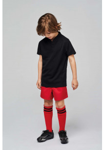 Kids' short-sleeved rugby jersey