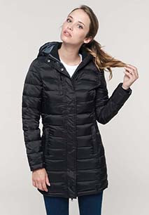Ladies' lightweight hooded padded parka