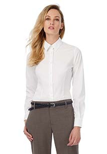 Ladies' Black Tie Stretch Shirt
