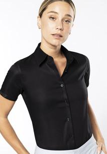 Ladies' short-sleeved non-iron shirt