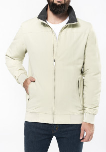 Fleece lined blouson jacket