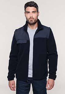Fleece jacket with removable sleeves