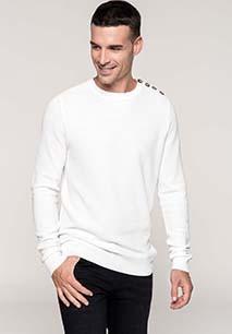 Buttoned shoulder jumper