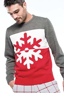 Snowflake motif jumper
