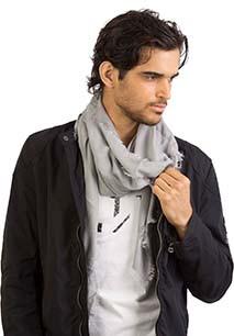 Woven square scarf