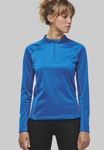 Ladies' zip neck running sweatshirt