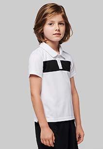 Kids' short-sleeved polo-shirt