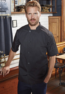 'Essential' short sleeve chef's jacket.