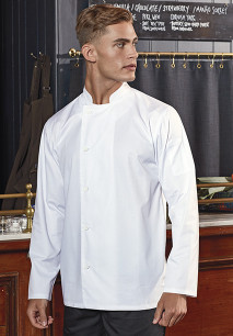'Essential' long sleeve chef's jacket.