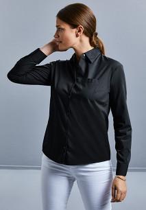 Ladies' Long-Sleeved Polycotton Poplin Shirt