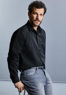Men's Long-Sleeved Polycotton Poplin Shirt