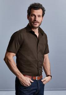 Men's Short-Sleeved Fitted Shirt