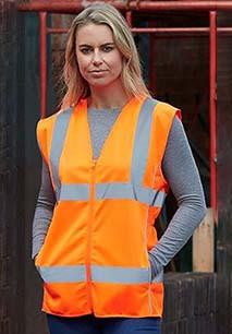 Hi-Vis ladies' executive waistcoat