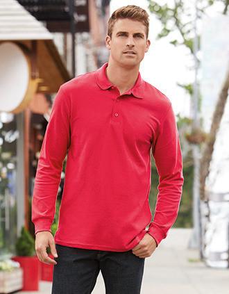 Premium Men's Long-Sleeved Polo Shirt