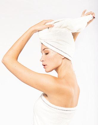 Ultra-soft microfibre hair towel