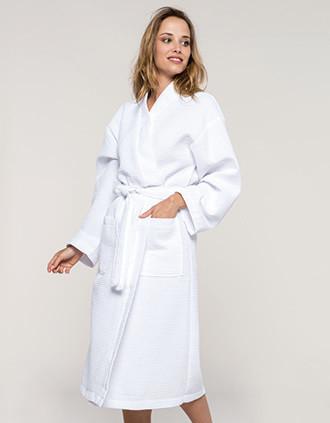 Waffle bathrobe