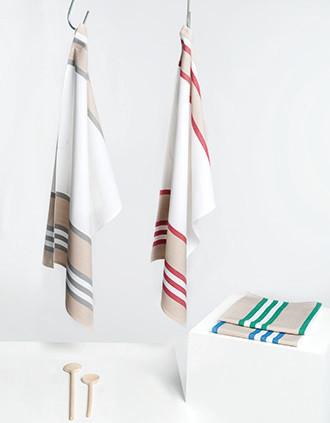 Striped tea towel