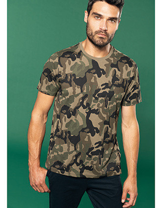 Men's short-sleeved camo t-shirt
