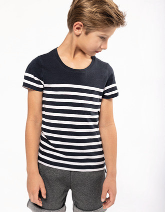Kids' Organic crew neck sailor T-shirt