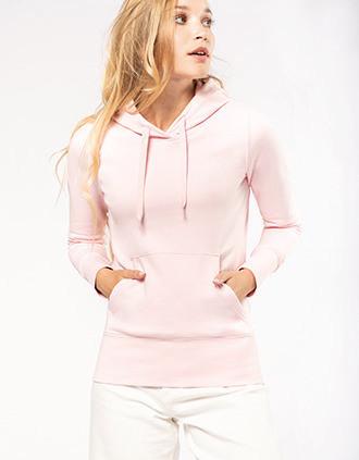 Ladies' eco-friendly hooded sweatshirt