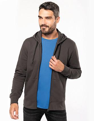 Men's eco-friendly zip-through hoodie