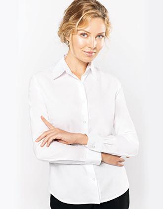 Ladies' long-sleeved Oxford shirt