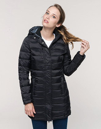 Ladies' lightweight hooded padded parka