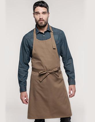 Polycotton apron without pocket