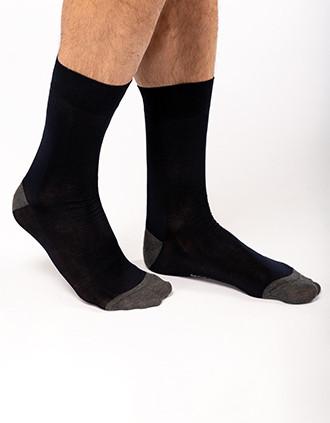 Mid-length dress socks in mercerised cotton
