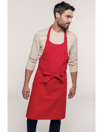Cotton apron with pocket