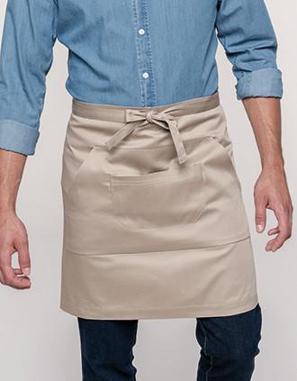 Polycotton mid-length apron