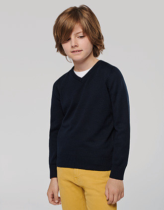 Kids' V-neck jumper