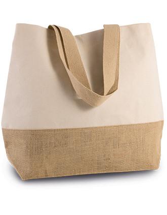 CANVAS & JUTE HOLD-ALL SHOPPER BAG