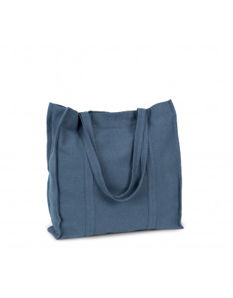 Hand-woven canvas shopping bag