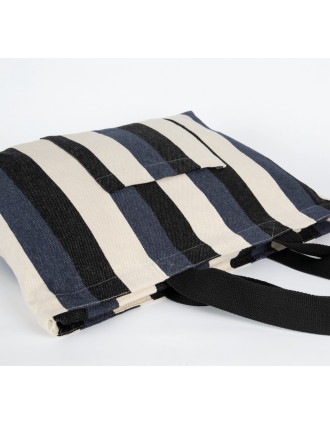 Recycled shopping bag - Striped pattern