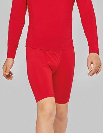 Kids' long base layer sports shorts