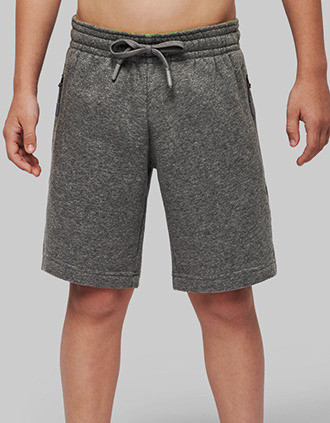 Kids' fleece multisport bermuda shorts