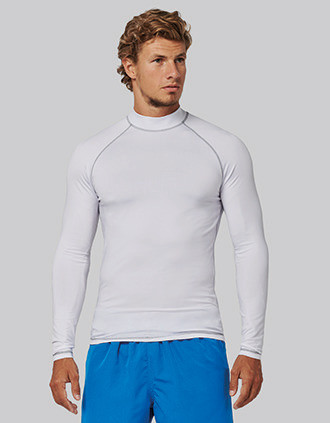 Men's technical long-sleeved T-shirt with UV protection