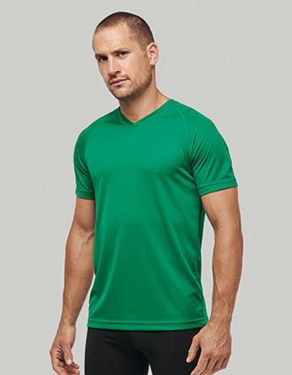 Men's V-neck short-sleeved sports T-shirt