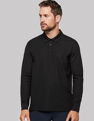 Adult Cool Plus® long-sleeved polo shirt