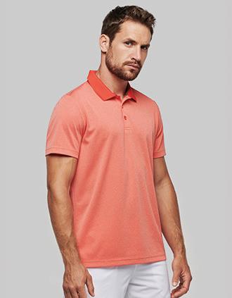 Adult short-sleeved marl polo shirt