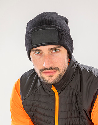 Recycled double knit beanie