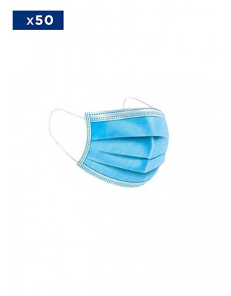 DISPOSABLE 3-PLY MEDICAL MASK-  Sold in packs of 50 ex