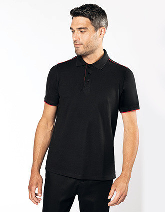 Men's short-sleeved contrasting DayToDay polo shirt