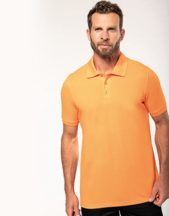 Men's shortsleeved polo shirt